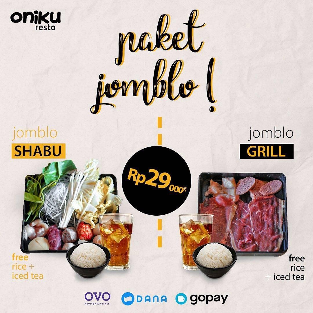 Oniku Shabu & Grill Promo Paket Jomblo, Hanya Rp.29.000!