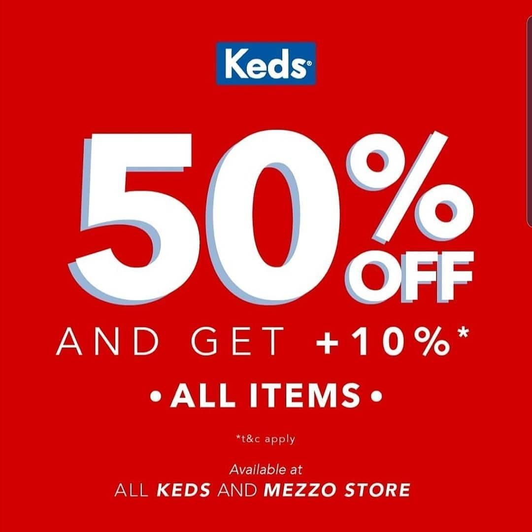 Diskon Keds Super Big Sale, Diskon 50% All Items!
