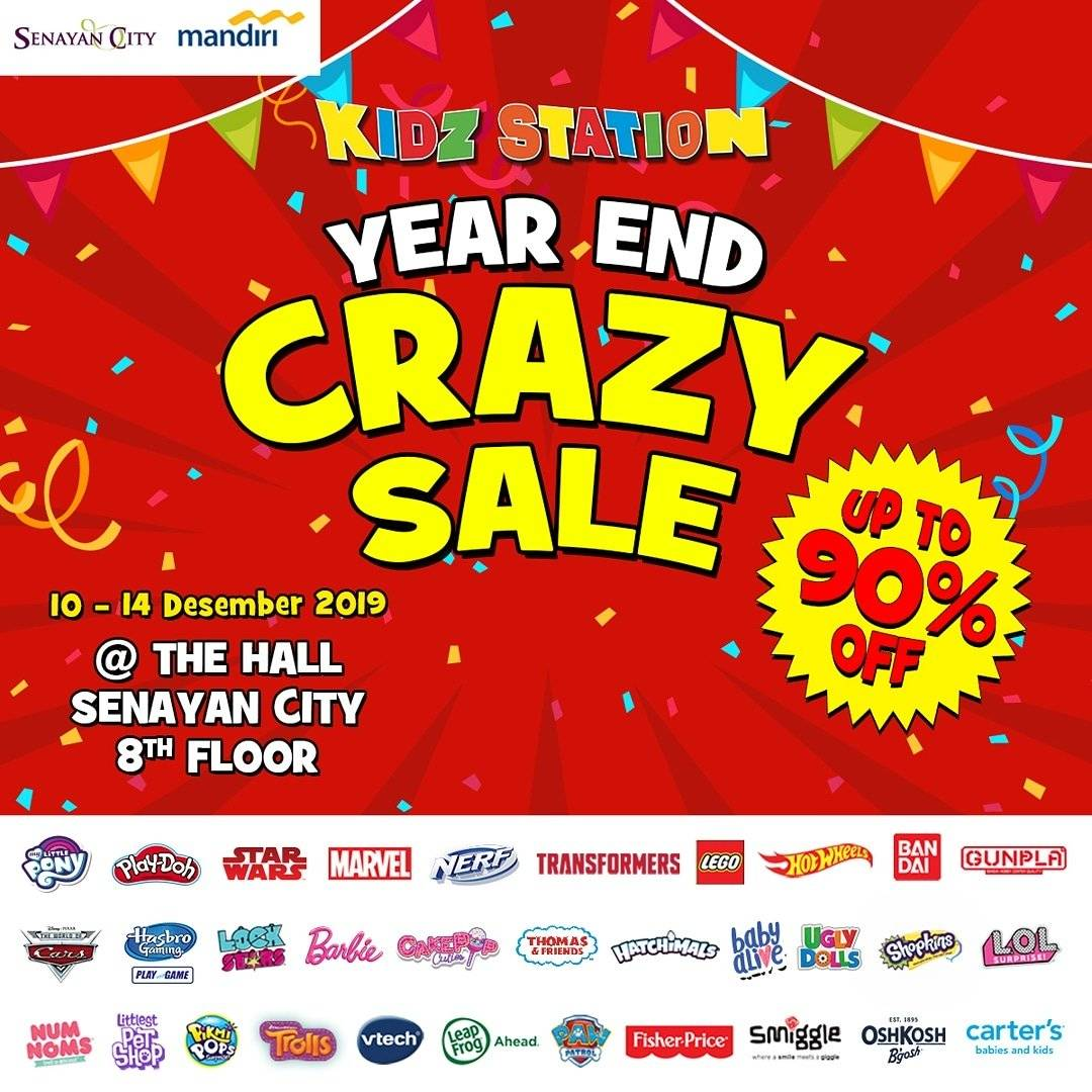 Kidz Station Promo Year End Crazy Sale, Diskon 90% + Diskon Ekstra 5%!