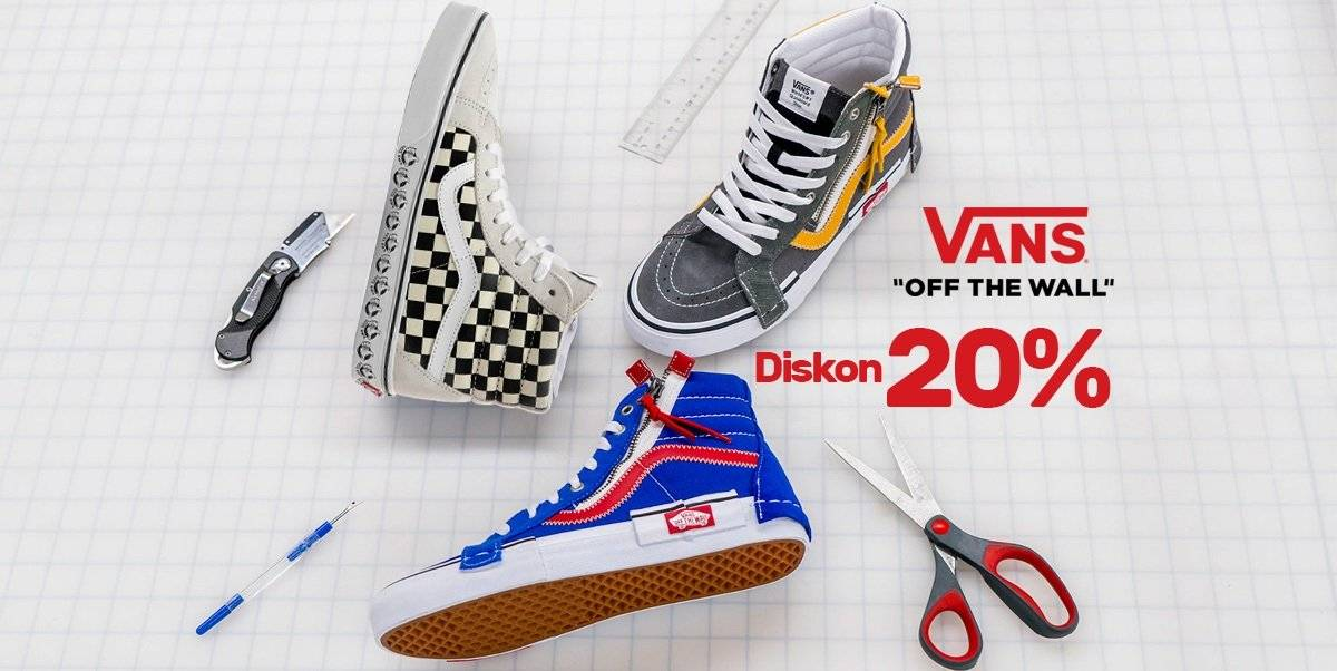 Blibli Promo Diskon 20% Khusus Sepatu Vans