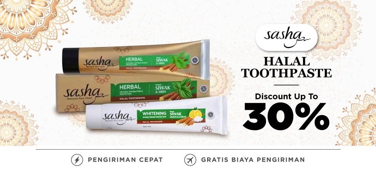 Blibli Promo Sasha Toothpaste Halal, Diskon Hingga 30%!