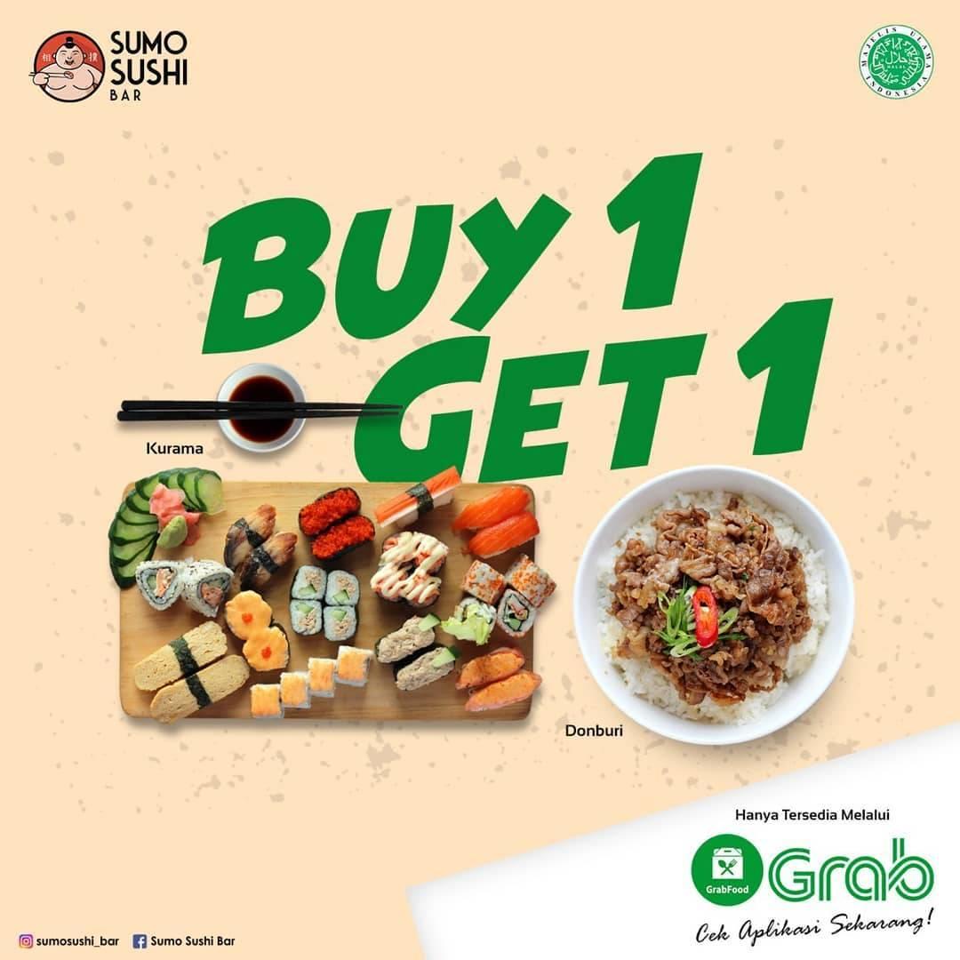 Sumo Sushi Bar Promo Buy 1 Get 1 Hanya Melalui Grabfood