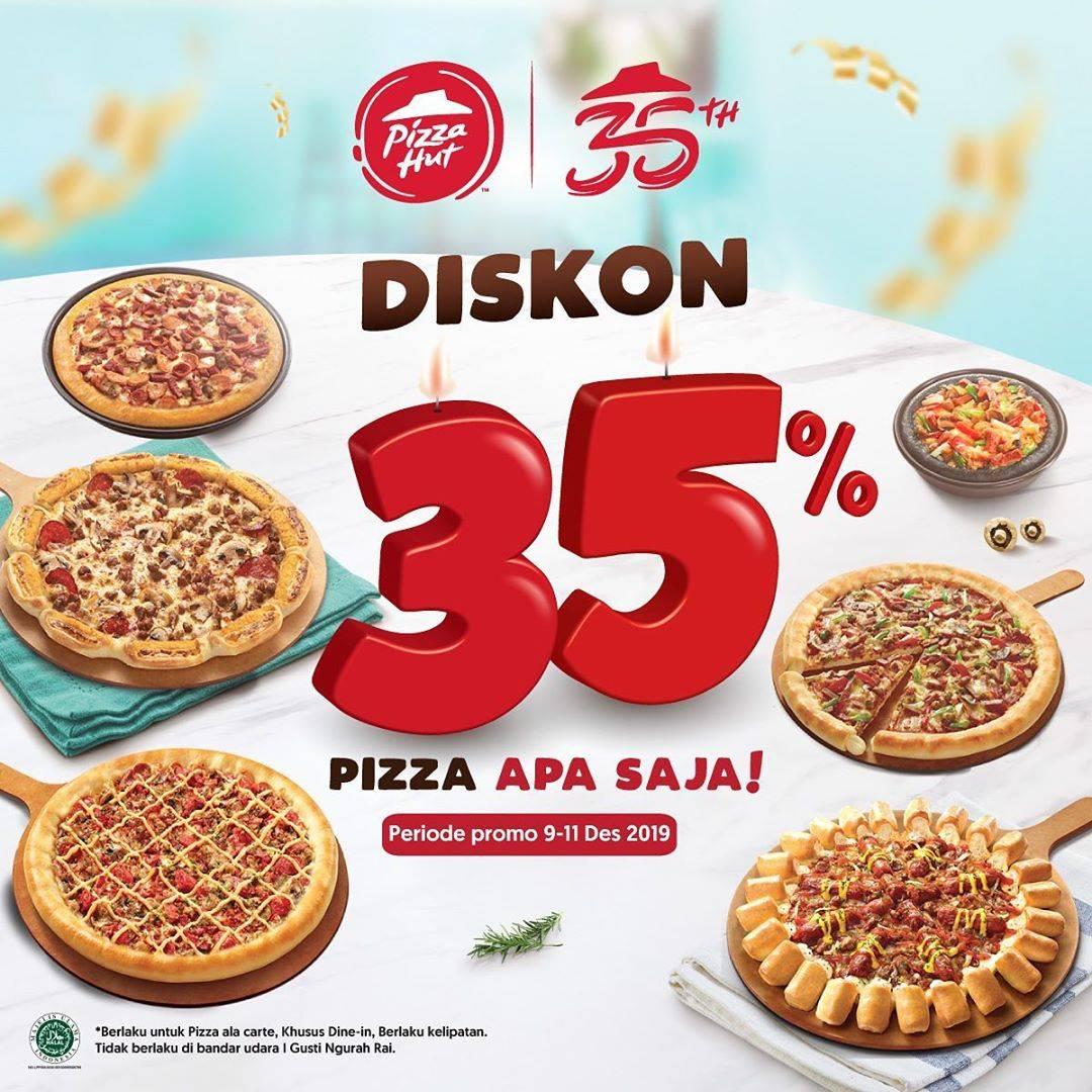 Promo Pizza Hut, Diskon 35% Untuk Pembelian Pizza Apa Saja