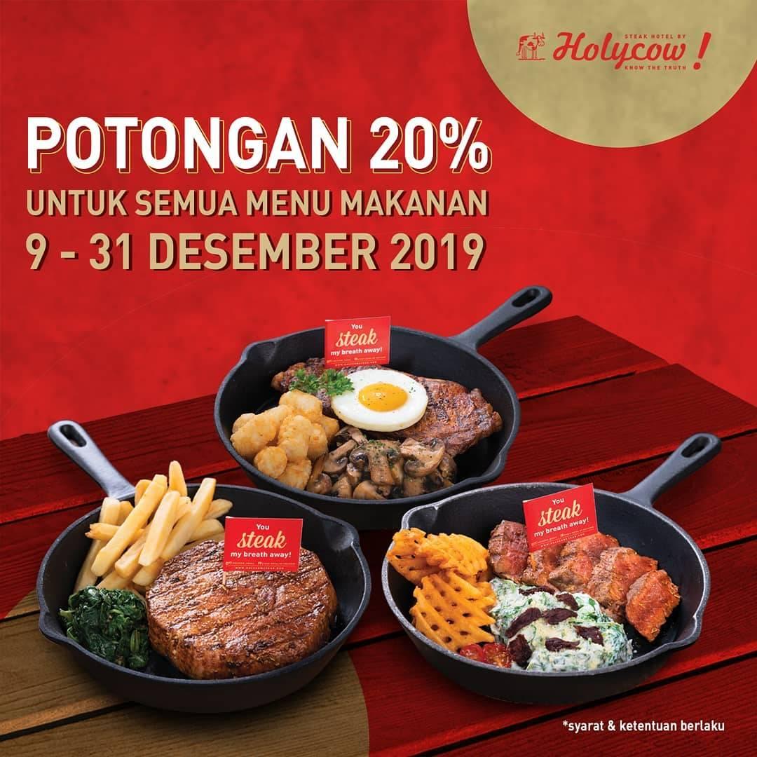 Steak Hotel by Holycow! Promo Potongan 20% Untuk Semua Menu Makanan
