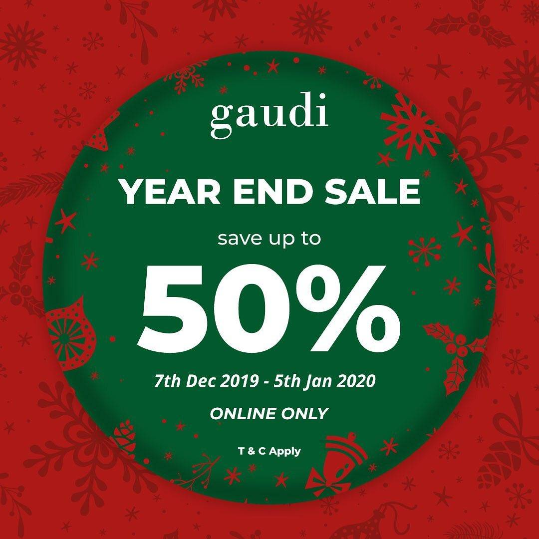 Gaudi Year End Sale Up To 50% Off
