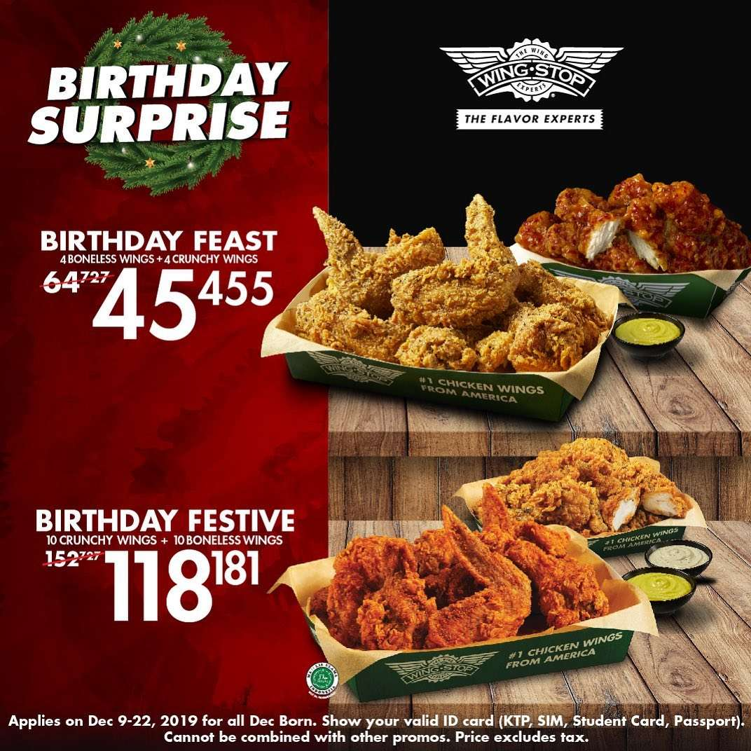 Wingstop Promo Birthday Surprise Desember 2019