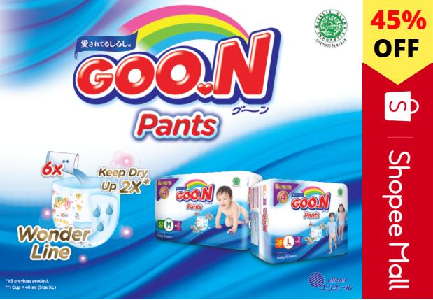 Shopee Promo Goon Baby Diaper Sale, Diskon Hingga 45%