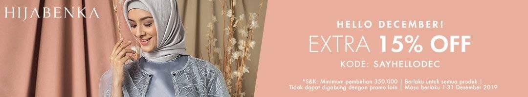 Hijabenka Promo Belanja Hemat Dengan Tambahan Diskon 15%!!!