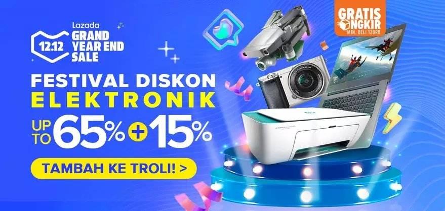 Lazada Promo 12.12 Festival Diskon Elektronik Hingga 65% + 15%