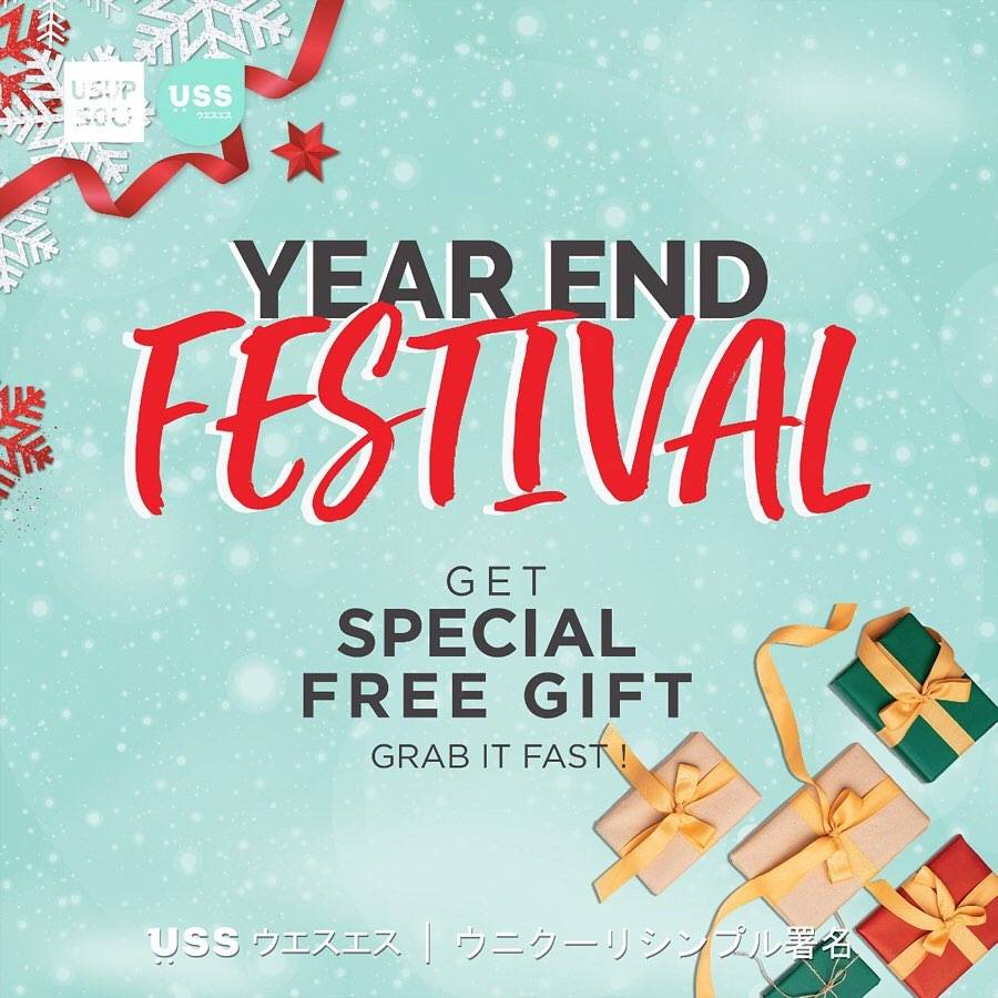 Usupso Year End Festival, Discount 20% For All Christmas Item
