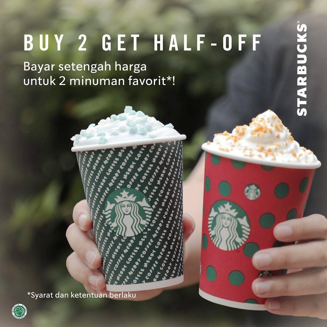 Starbucks Diskon 50% Untuk Pembelian 2 Minuman Apapun dengan Kupon Line