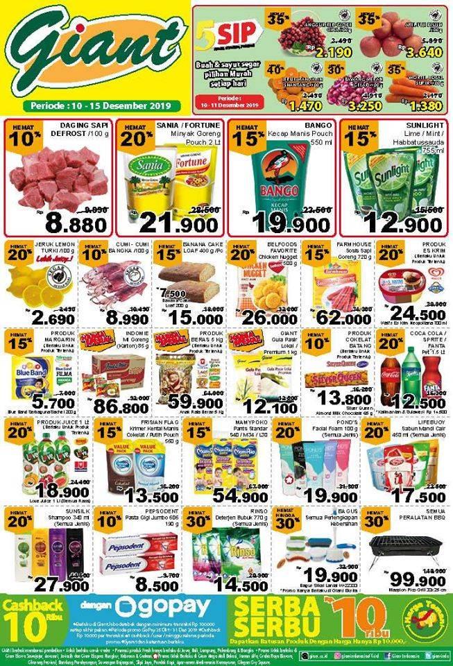 Katalog Promo Belanja Hemat Giant Supermarket Periode 10-15 Desember 2019