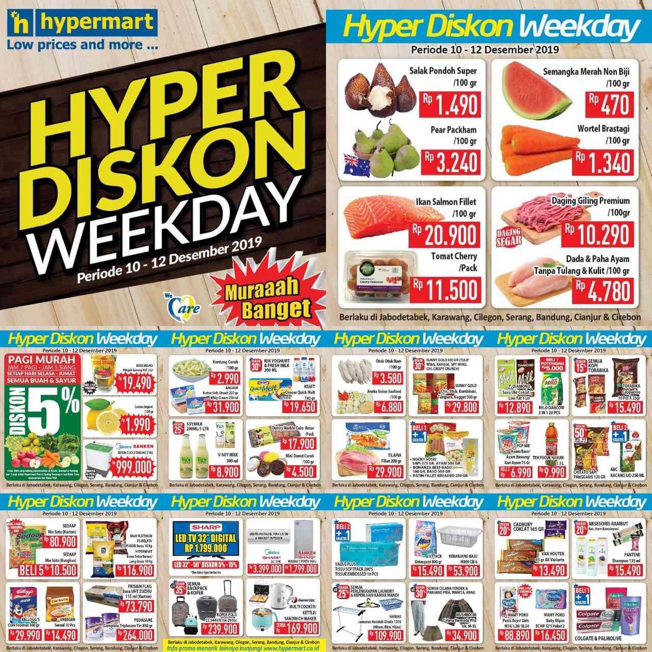 Diskon Katalog Promo Hyper Diskon Hypermart Periode 10-12 Desember 2019