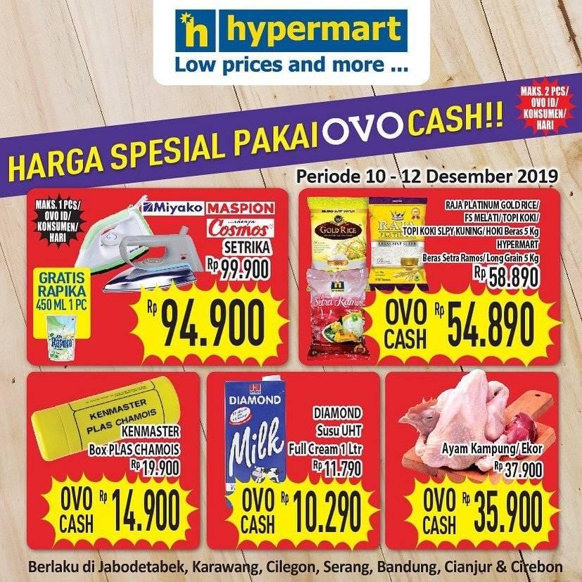 Katalog Promo Hypermart Feat Ovo Periode 10-12 Desember 2019