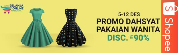 Shopee Promo Dahsyat Pakaian Wanita Termurah Dengan Diskon Hingga 90%!