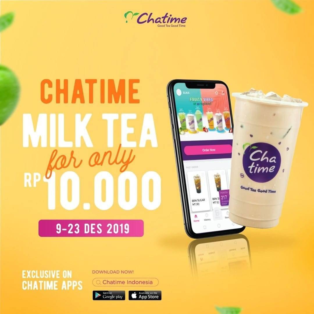 Chatime Promo Harga Spesial Cuma Rp. 10.000 Dengan Pembelian Melalui Mobile App