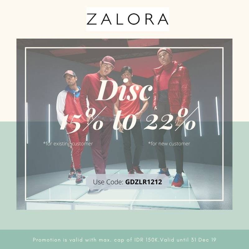 Zalora December Promo Big Sale, Discount Hingga 22%