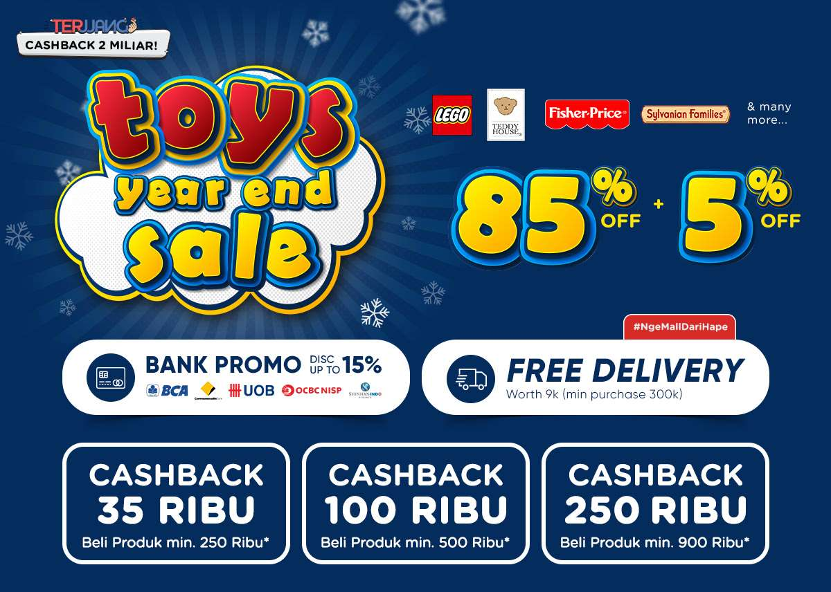 iLotte.com Promo Toys Year End Sale Dapatkan Discount Up To 85% + 5% Off Dan Cashback!