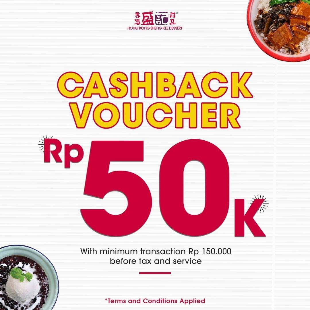 Hong Kong Sheng Kee Promo Cashback Voucher Rp. 50.000