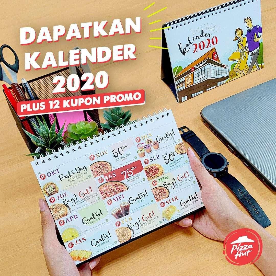 Pizza Hut Promo Gratis Kalender 2020 + 12 Kupon Diskon Tahun 2020