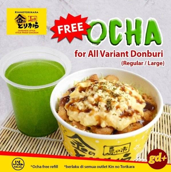 Promo Kin No Torikara Buy Donburi Free Ocha Refill
