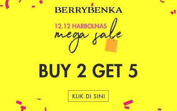 Berrybenka Promo 12.12 Mega Sale, Buy 2 Get 5 Free