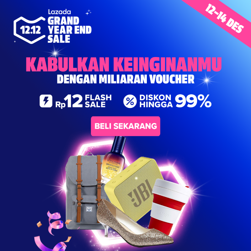 Lazada Promo 12.12 Grand Year End Sale, Diskon Hingga 99%