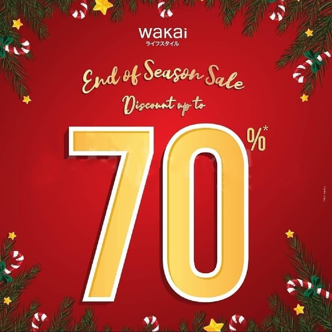 Wakai Promo Year End Sale, Diskon Hingga 70%!