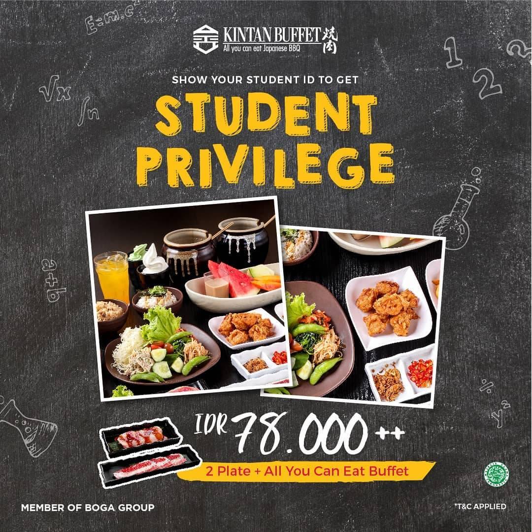 Shaburi Dan Kintan Buffet Student Privilege Rp. 78.000++