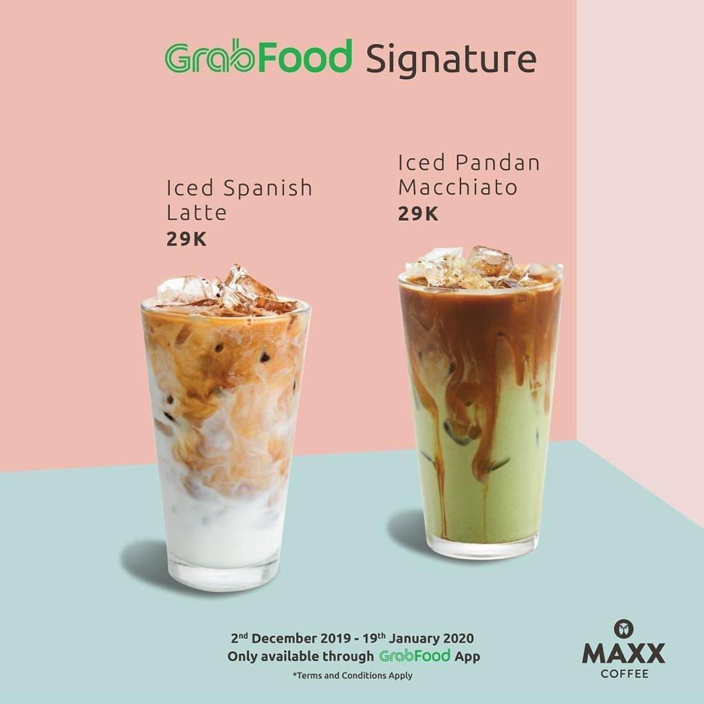 Maxx Coffee GrabFood Signature Dapatkan Harga Spesial untuk Menu Favorit Pilihan
