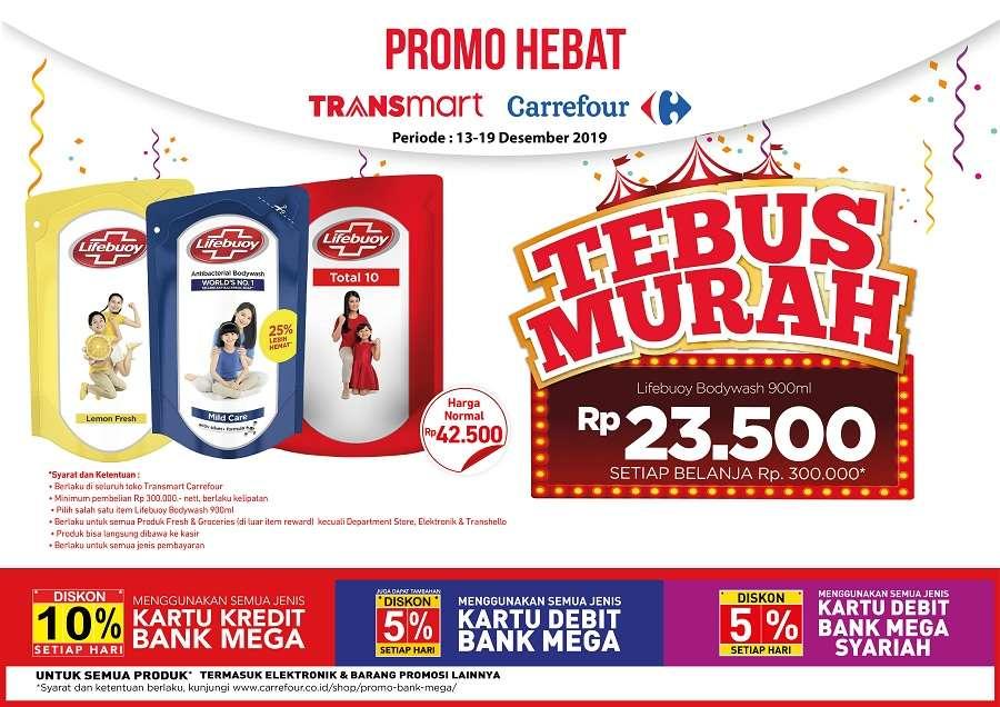 Transmart Carrefour Promo Tebus Murah Lifebuoy Bodywash 900ml Hanya Rp. 23.500