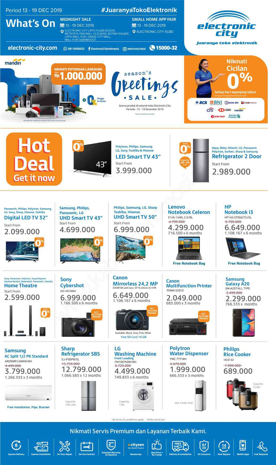 Promo Electronic City Katalog Weekly Special Periode 13-19 Desember 2019