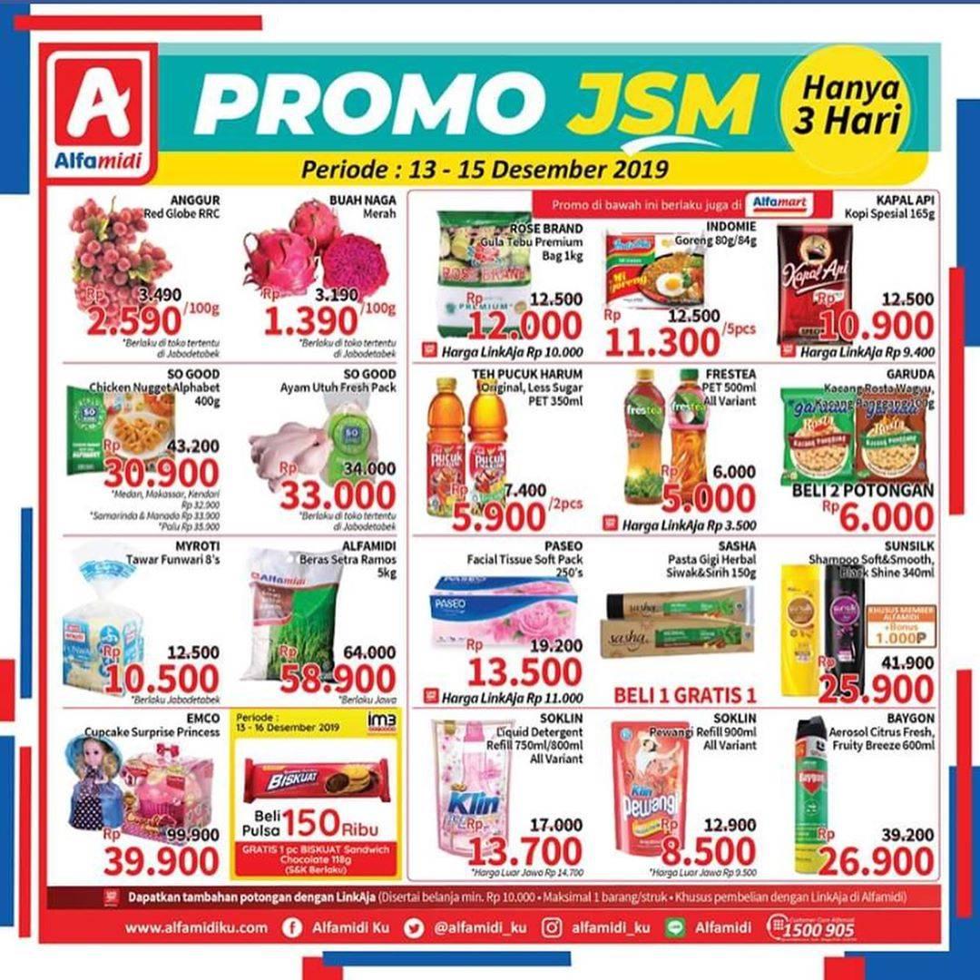Diskon Katalog Promo Alfamidi Weekend JSM Periode 13-15 Desember 2019