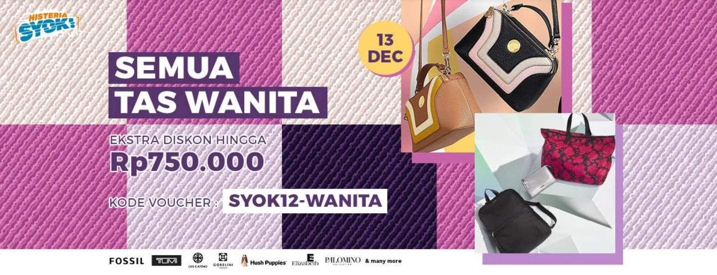 Blibli Promo Tas Branded Diskon Hingga 80% + Ekstra Diskon Hingga Rp 750.000!