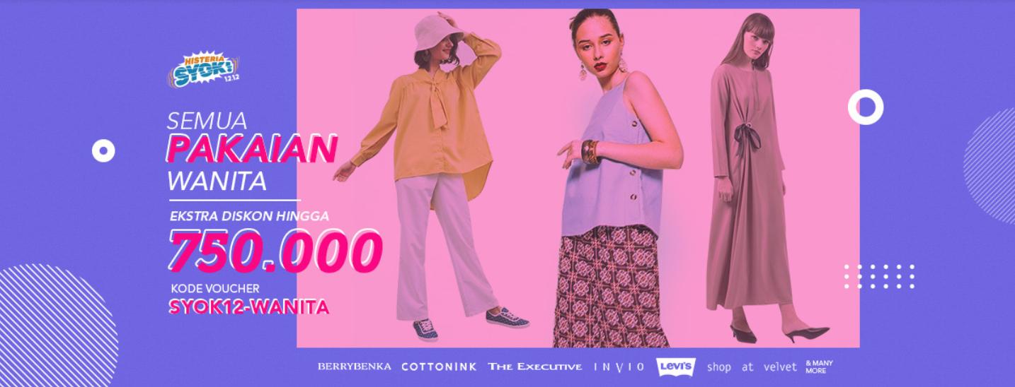 Blibli Promo Pakaian Wanita Termurah, Diskon Hingga 70% + Ekstra Diskon Hingga Rp 750.000!