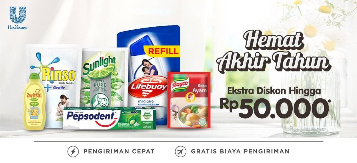 Blibli Promo Unilever Hemat Akhir Tahun Diskon Hingga 30% + Ekstra Diskon Hingga Rp 50.000