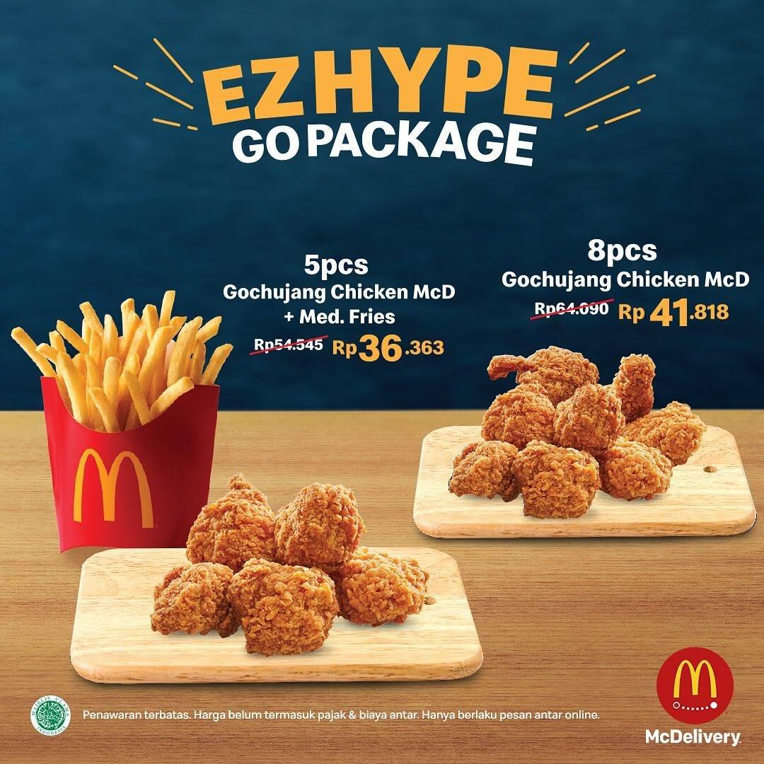 McDonalsd Promo Ezhype Go Package, Harga Mulai Rp. 36.000