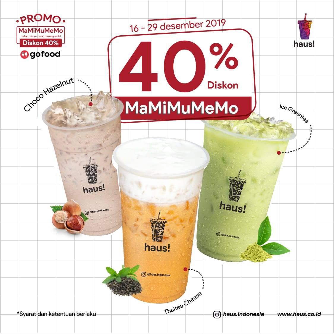 HAUS! Indonesia Promo Mamimumemo, Diskon 40%!