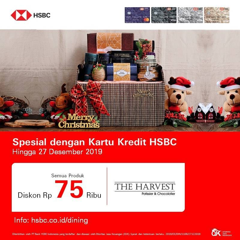 The Harvest Promo Christmas Deals, Diskon Rp. 75.000 dengan Kartu Kredit HSBC