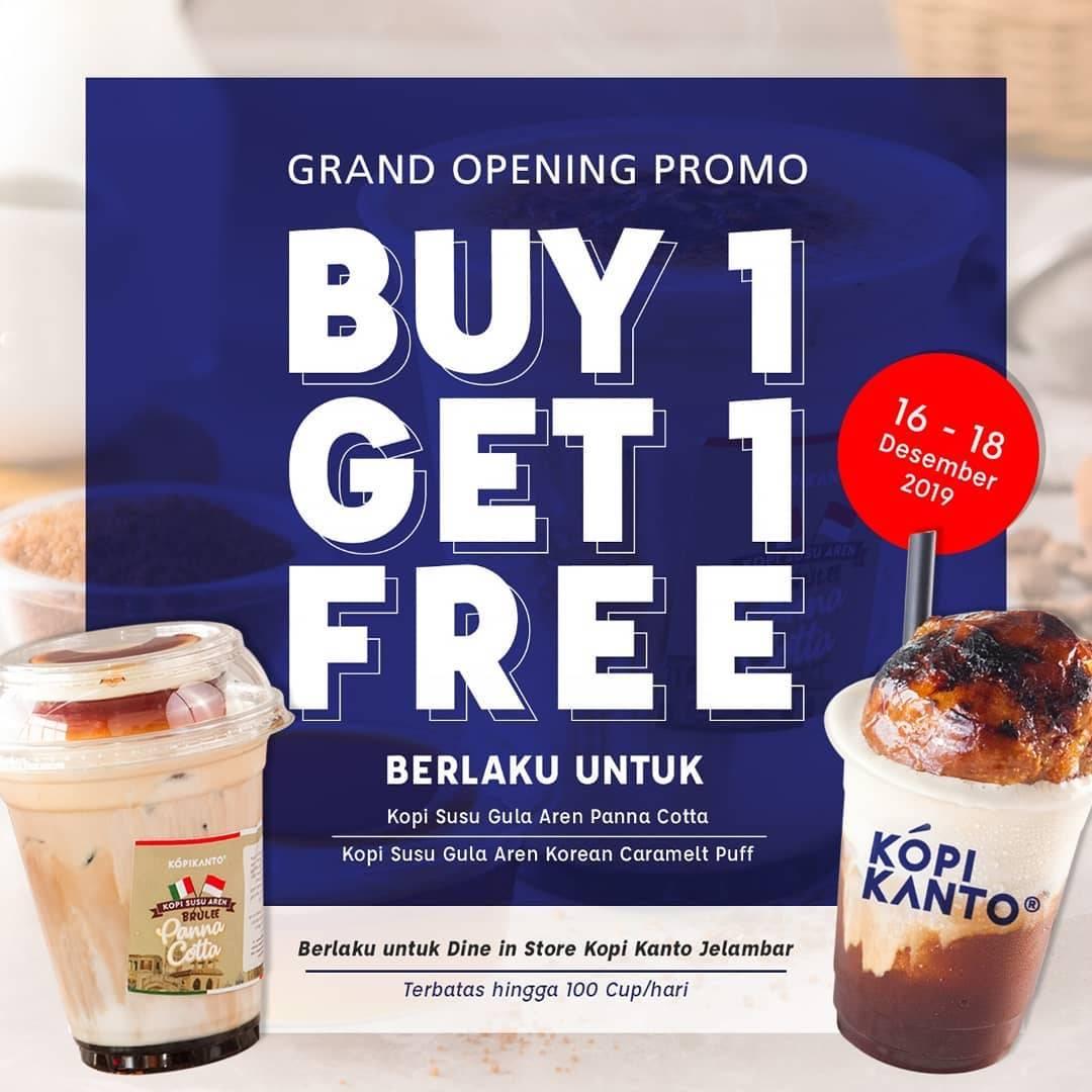 Kopi Kanto Jelambar Opening Promo Buy 1 Get 1 Free