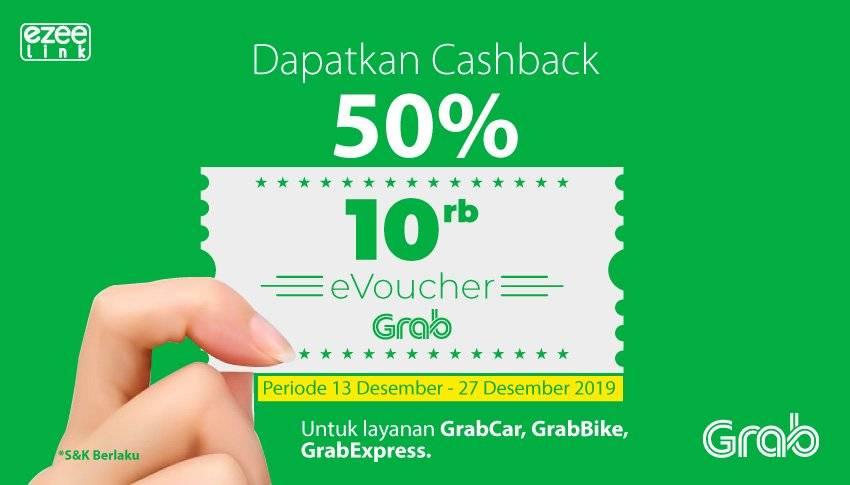Ezeelink Promo Cashback 50% EVoucher Grab Transport Rp 10.000!