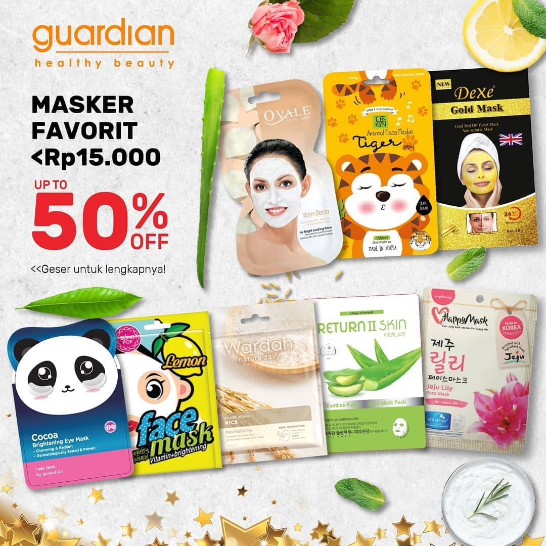 Katalog Promo Guardian Edisi Mask Sheet Favorit, Diskon 50%!