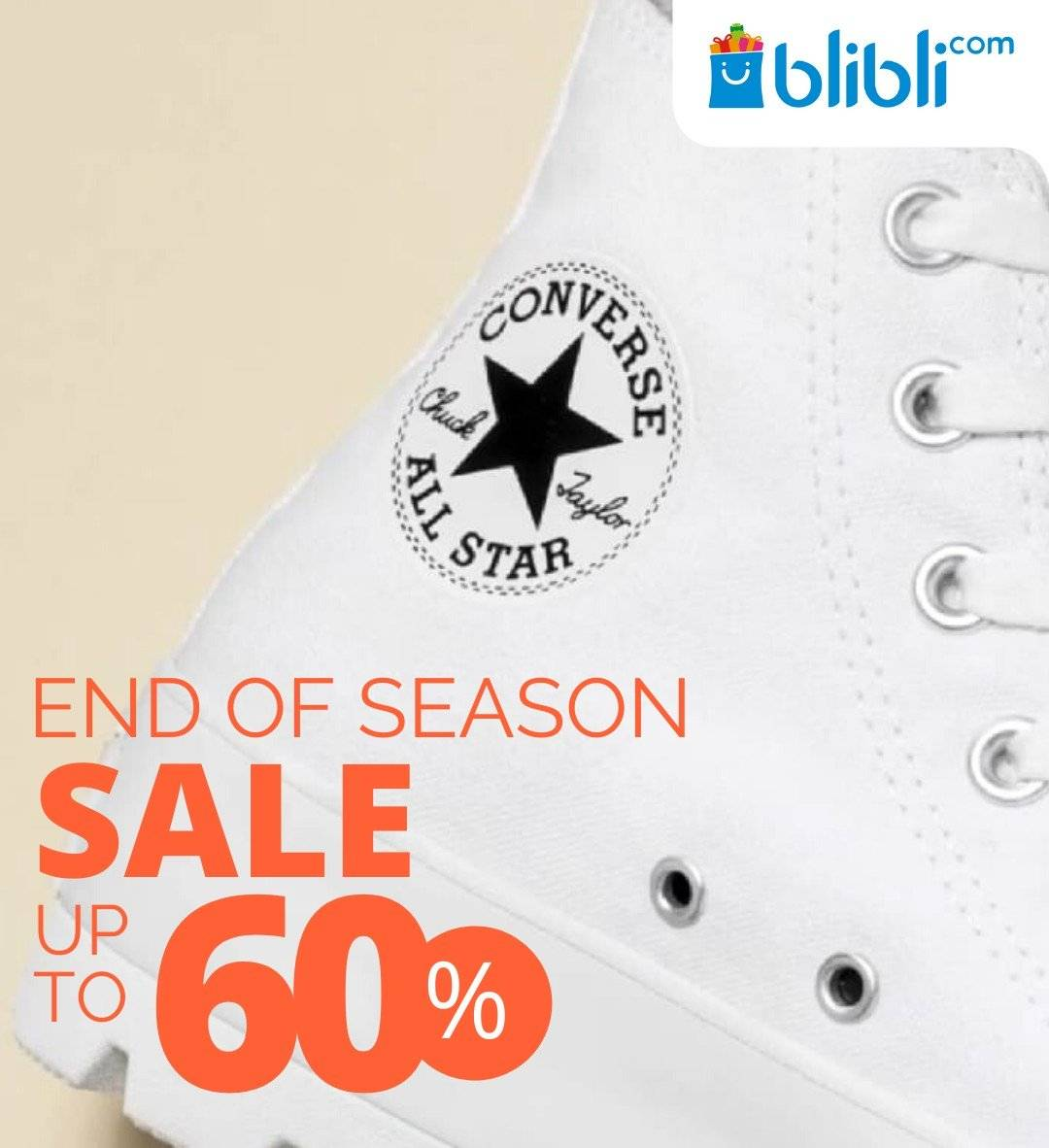 Blibli Promo Converse Year End Sale, Diskon Hingga 60%!