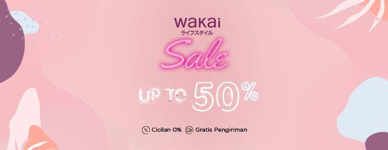 Wakai Promo Diskon Hinggga 50% Cuma Di Blibli