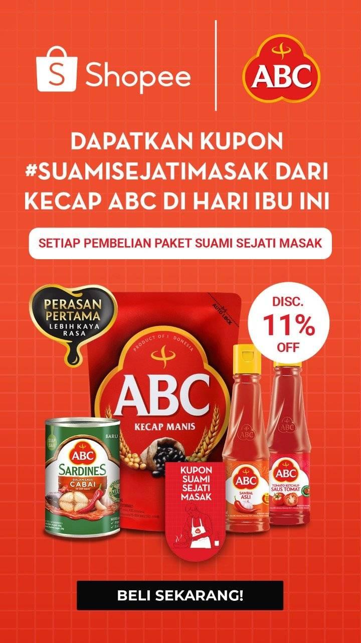 Shopee Promo Spesial Produk ABC, Diskon Hingga 11% + Ektra Diskon Hingga Rp 10.000!