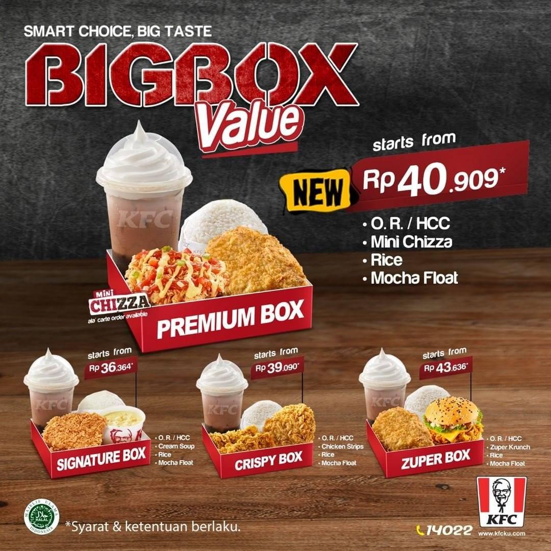 KFC Promo Menu Terbaru Combo Premium Box, Harga Mulai Rp. 40 Ribuan