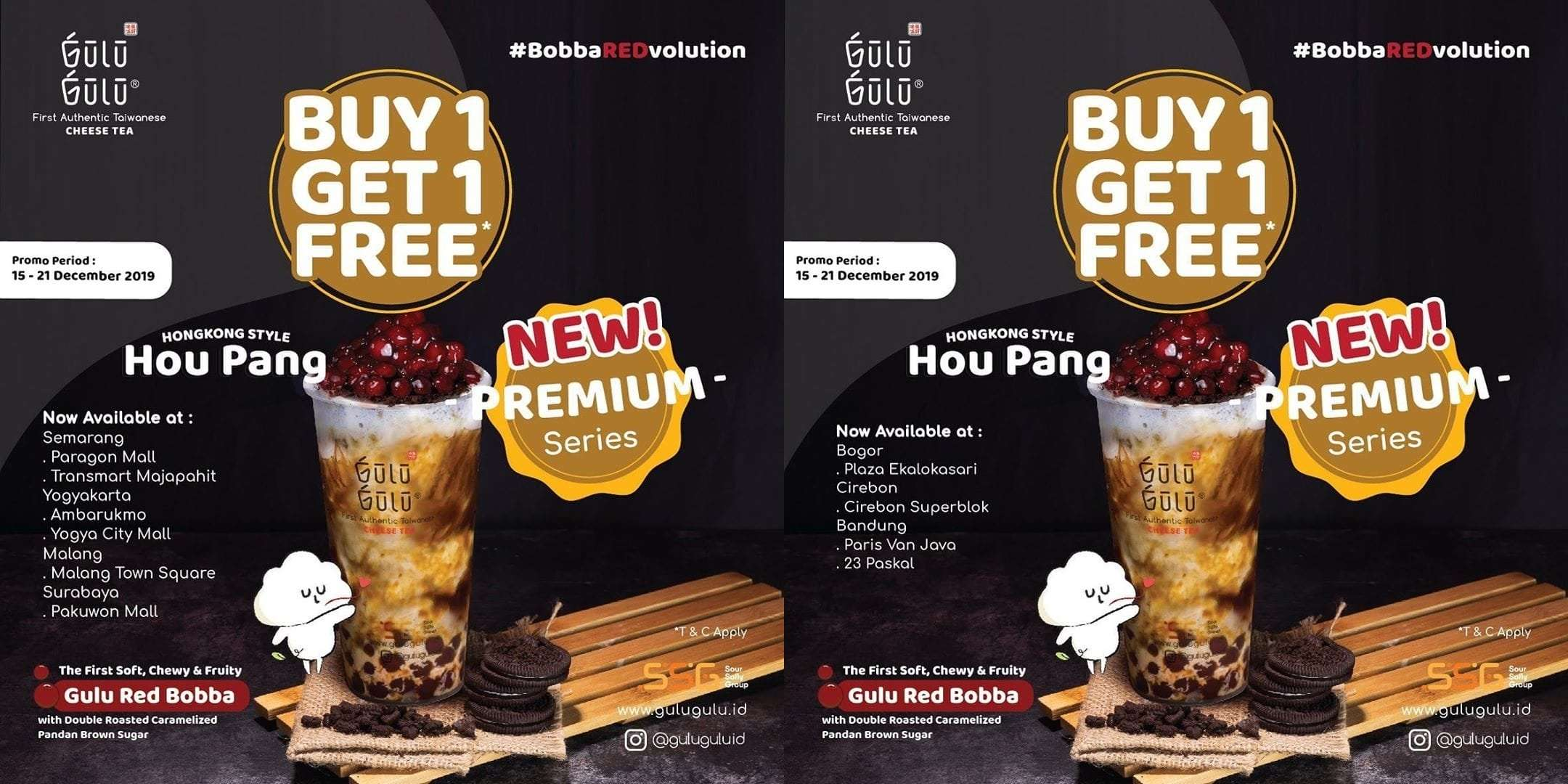Gulu Gulu Promo Spesial Premium Series Boba Redvolution, Buy 1 Get 1 Free Is Back!