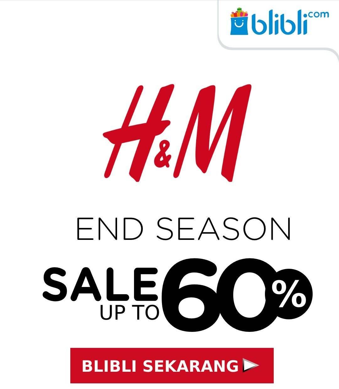 H&M Year End Sale, Diskon Hingga 60% Hanya Di Blibli!