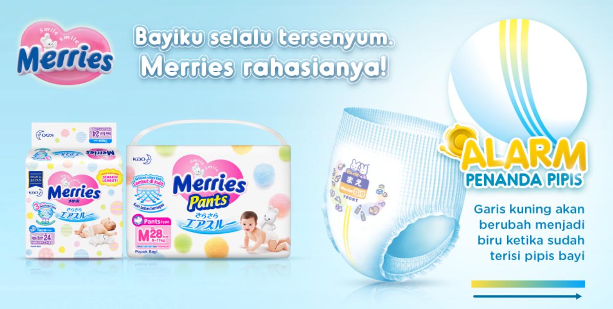 JD.ID Promo Merries Diaper Bayi Terbaik Diskon Hingga 34%!