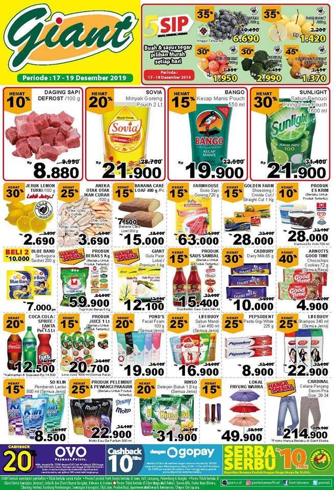 Katalog Promo Belanja Hemat Giant Supermarket Periode 17-19 Desember 2019